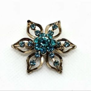 🆕Vintage Bright Blue Rhinestone Pin